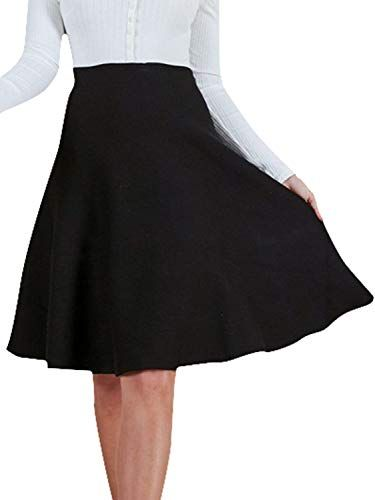 Ladies Women Girls High Waist Faux Leather PU Skater Flippy Flared A line Skirt