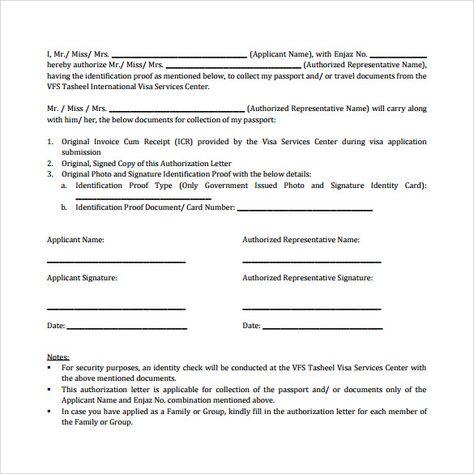 sample passport authorization letter free documents pdf word - sample passport authorization letter