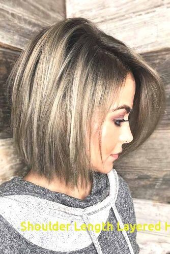 96 Inspirational Shoulder Length Layered Haircuts In 2020 Medium Hair Styles Long Bob Haircuts Thick Hair Styles