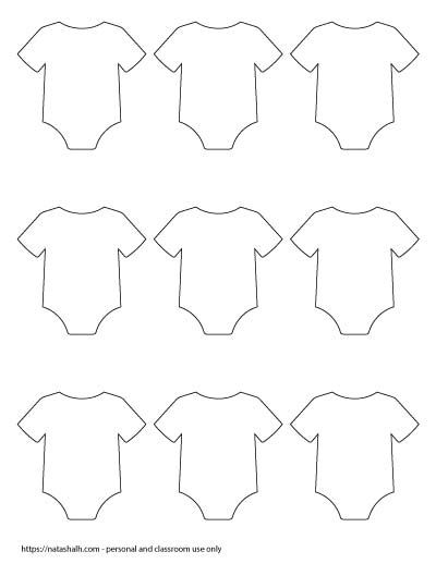 9 Free Printable Baby Onesie Outline Templates Free Baby Shower Printables Baby Shower Onesie Free Printables Baby