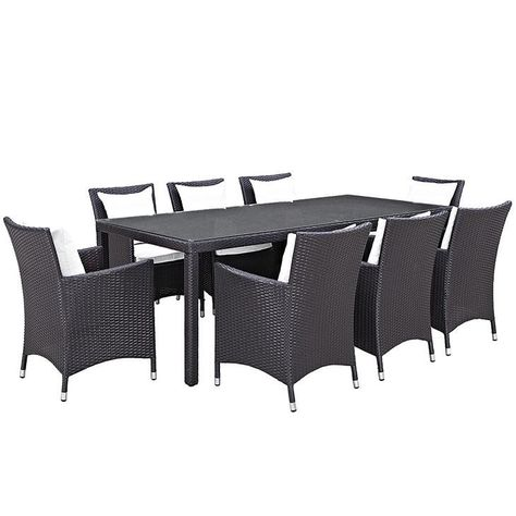 Convene 9 Piece Outdoor Patio Dining Set Dining Table Dimensions