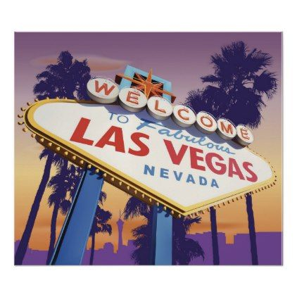 Welcome To Las Vegas Poster Zazzle Com Las Vegas Postcard Design Postcard