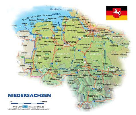 Niedersachsen Karte Deutschland Deutschland Karte Niedersachsen