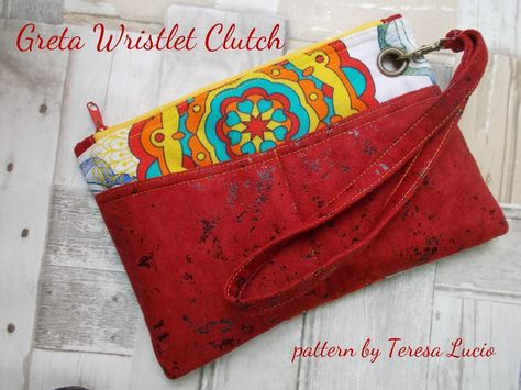 Looking for your next project? You're going to love Greta Wristlet Clutch by designer Teresa Lucio.