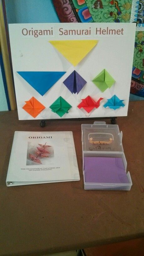 Origami projects for all levels.