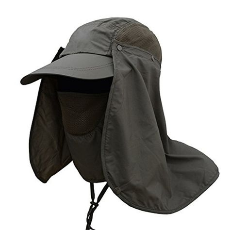 Outdoor UV Protection Face Neck Flap Cover Sun Cap Fishing Hunting Hiking Hat US