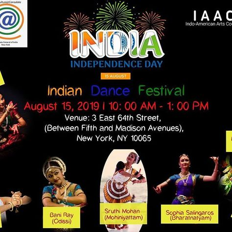 #Indian Dance Festival in #NewYork on August 15 2019. The magic of Indian dance next week in New  #Indian Dance Festival in #NewYork on August 15 2019. The magic of Indian dance next week in New York! Come and join us for the celebration of Indian Dance Festival featuring exceptionally talented artists presenting dances from various parts of India. Hope to see you at this great festival of #dance. #independenceday #independencedayindia #indian #indiandance #indiandancers #indianculture #newyork
