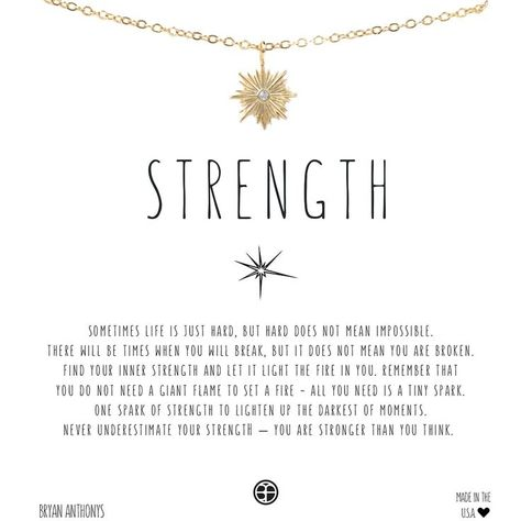 Strength Necklace  2019  STRENGTH. BRYAN ANTHONY NECKLACE. GOLD OR ROSE GOLD.  The post Strength Necklace  2019 appeared first on Jewelry Diy.