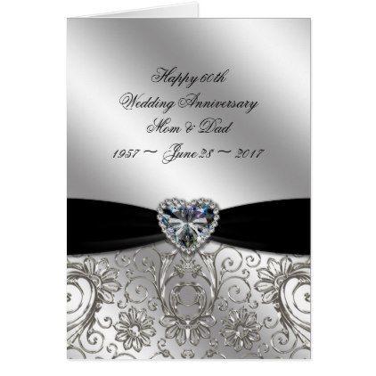 60th Diamond Wedding Anniversary Greeting Card Gifts Marriage Love S