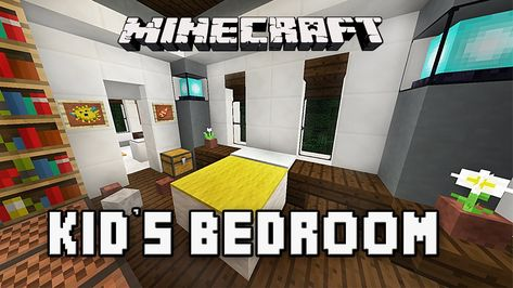 Kids Bedroom Minecraft minecraft tutorial: how to make a modern bedroom with bunk beds