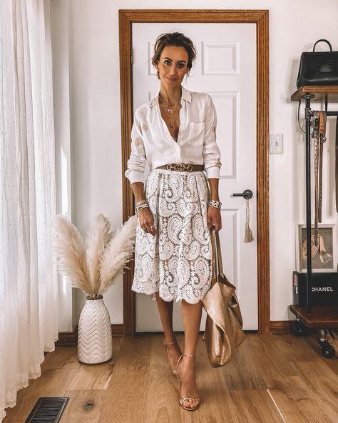 7 Ways to Style a White Lace Skirt   Karina Style Diaries