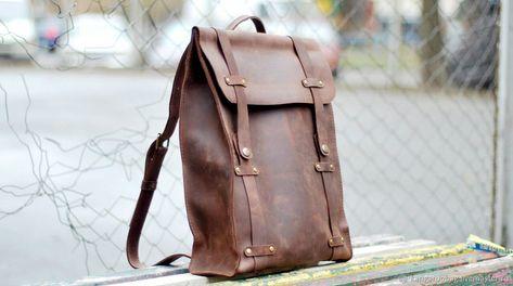 Кожаный рюкзак 001 коричневого цвета – купить в интернет-магазине на Ярмарке  Мастеров с доставкой be6856de745
