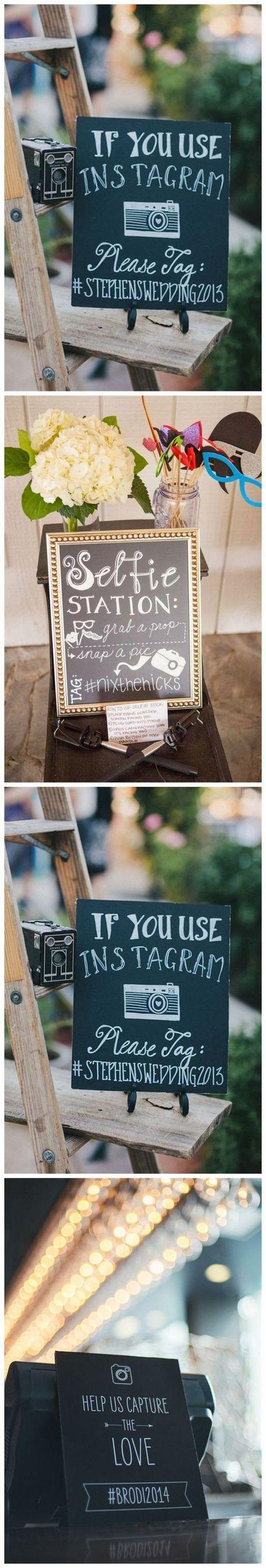 Inform Your Guests Of A Preferred Hashtag For Your Wedding DIY Wedding Ideas | Rustic Wedding Decorations | Elegant Wedding Decor on a Budget |  #wedding #weddingideas #rusticwedding #weddingdecorations #DIYwedding