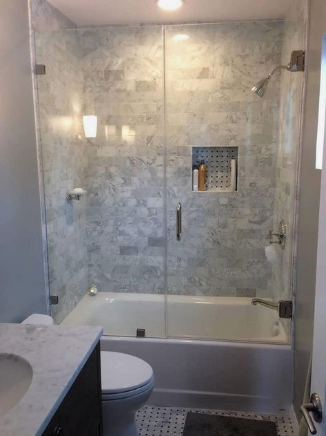 Tiny Bathroom Tub Shower Combo Remodeling Ideas 56 Bathroom