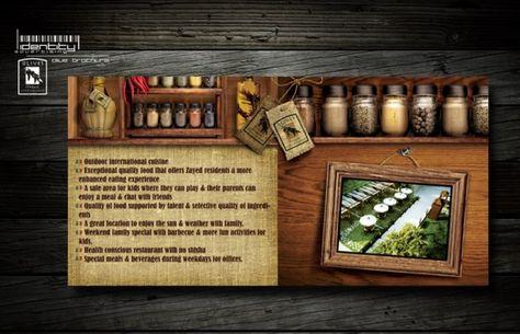 Restaurant Brochure Design Examples for Inspiration Print design - restarunt brochure