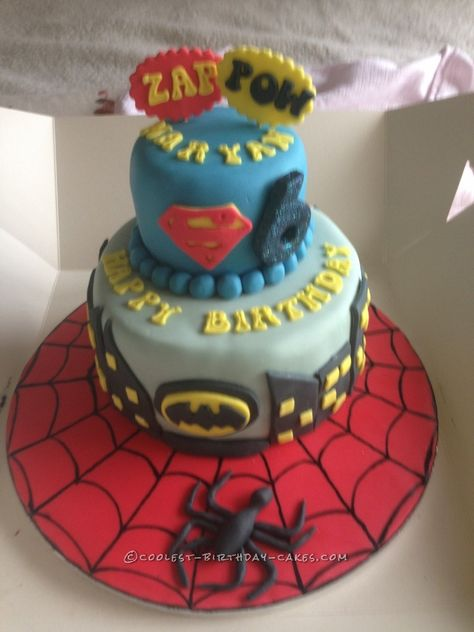 Coolest Superhero Cake for a 6 Year Old... Coolest Birthday Cake Ideas