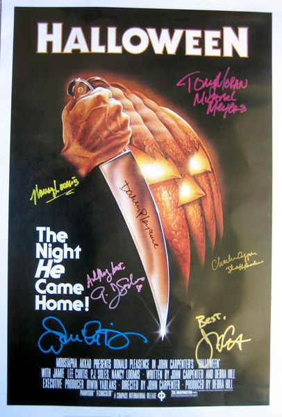 HALLOWEEN (1978) movie poster signed by P.J. Soles (Lynda van der