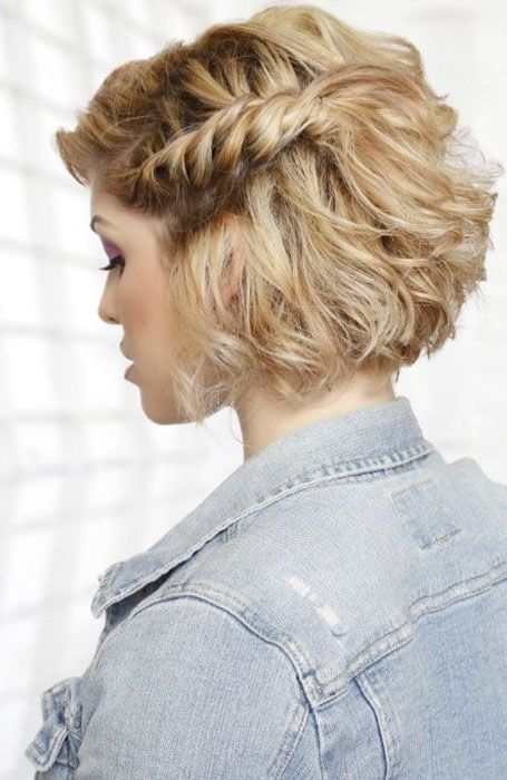 30 Easy Hairstyles For Short Curly Hair Haircut For Thick Hair Braids For Short Hair Short Hair Styles