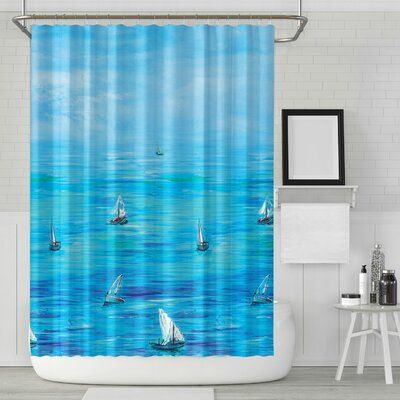Breakwater Bay Rountree Nautical Sailing Boat Single Shower