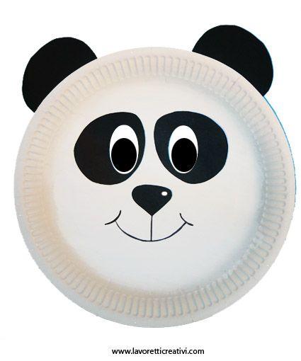 nuova versione prezzo migliore ricco e magnifico Maschere Carnevale con piatti di carta – Panda | ANIMALI ...