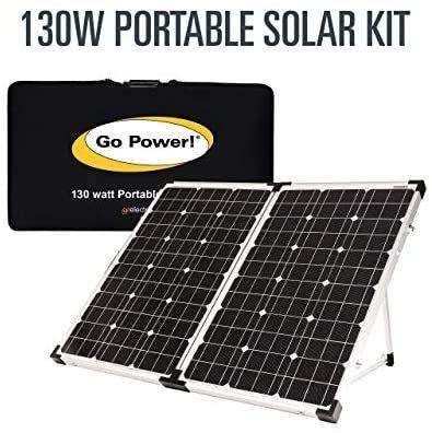 Amazon Com Go Power Gp Psk 130 130w Portable Folding Solar Kit With 10 Amp Solar Controller Automotive In 2020 Solar Kit Solar Roof Solar Panel