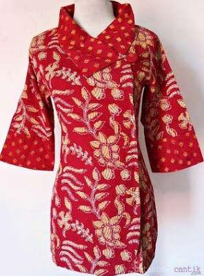 Model Baju Batik Kantor Wanita Terbaru