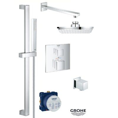 Grohe Grohtherm Thermostatic Complete Shower System With Rough In
