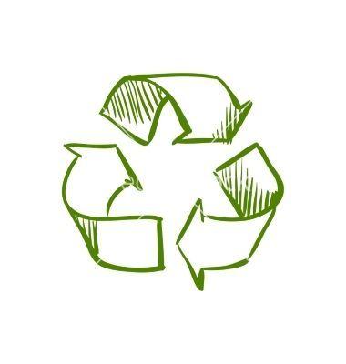 Doodle Recycle Symbol Vector On Vectorstock Spirituallypositivegifts Com Loveourplanetweonlyhaveone Healthyandnatural Recycle Symbol Recycle Logo Recycling