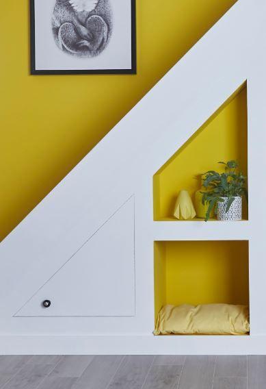 Peinture Multi Supports Carton Jaune Satin 0 75l Avec Images Decoration Maison Decor Niche Amenagement Escalier