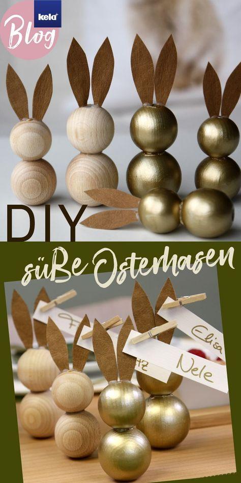 Photo of DIY – Osterhasen aus Holzkugeln