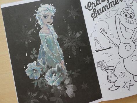 塗り絵本紹介アートぬりえfrozenアナと雪の女王