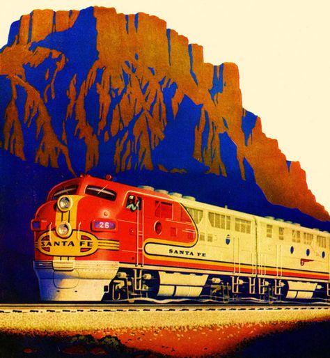 Details about  /Southern Pacific 1933 Santa Cruz Ca Vintage Poster Print Retro Style Train Art