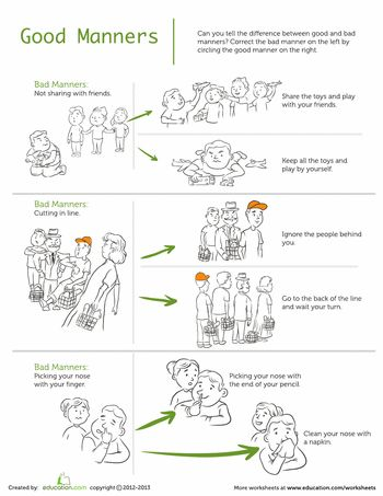 22 best images about Good Manners on Pinterest  Jumping jacks