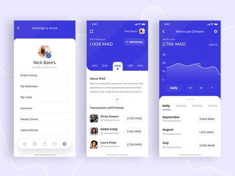 Concept Financial App Sketch Freebie