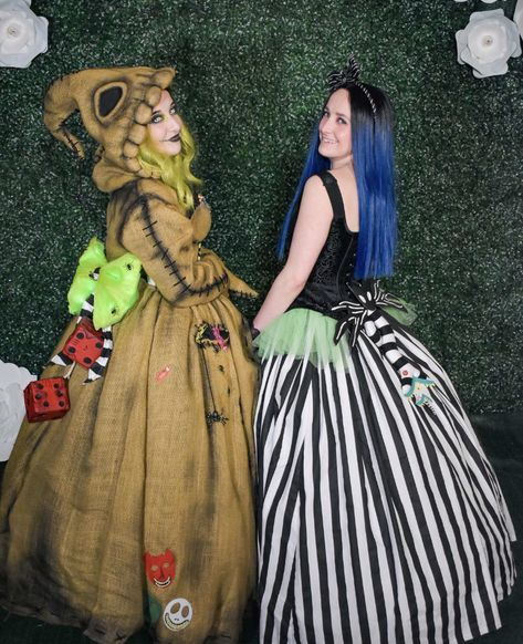 [self] My favorite pic of my Oogie Boogie ball gown from the Burtonesque Masquerade ball over the weekend.