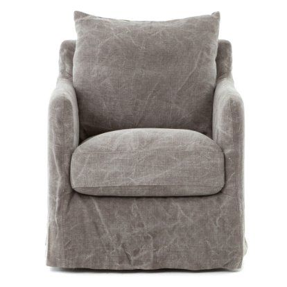 Four Hands Banks Jute Swivel Accent Chair Swivel Chair Grey