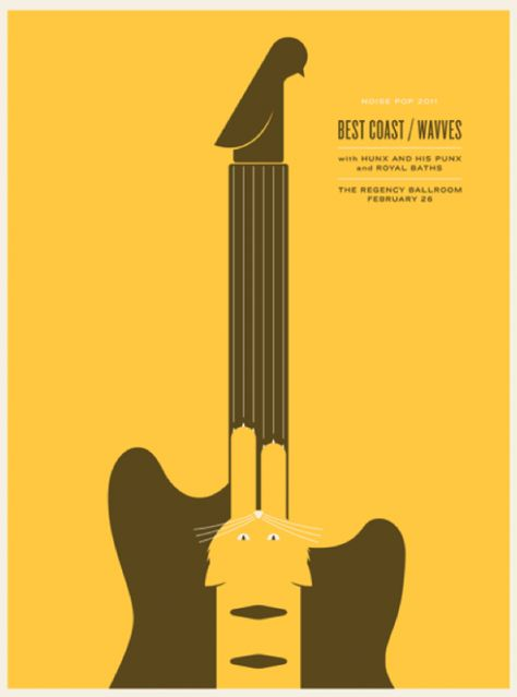 Poster Design: Best Coast / Wavves / Regency Ballroom / Jason Munn (The Small Stakes)