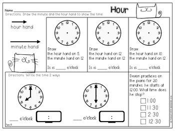 First Grade Math Topic 13 Time First Grade Math First Grade