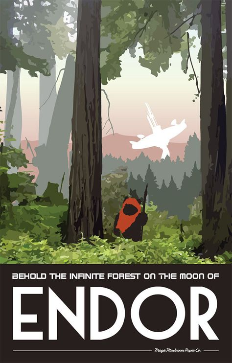 30 Illustrated Travel Posters for Fantasy Destinations