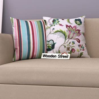 Rose Vineyard Striped Candy Cushion Cover Set Of 2 Cushion Cover Designs Cushion Covers Online Cushion Covers