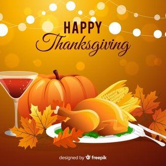 Download Thanksgiving Day Background In Flat Design For Free Feliz Dia De Accion De Gracias Accion De Gracias Dia De Accion De Gracias