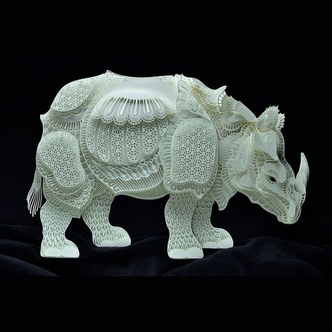 Best Art Craft Images On Pinterest Cut Paper Community Art - Japanese artist tightly rolls newspapers to craft incredibly accurate animal sculptures