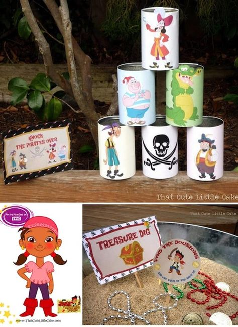Jake and the Neverland Pirates Party with Full of Fun Ideas via Kara's Party IdeasKnock the Pirates over game
