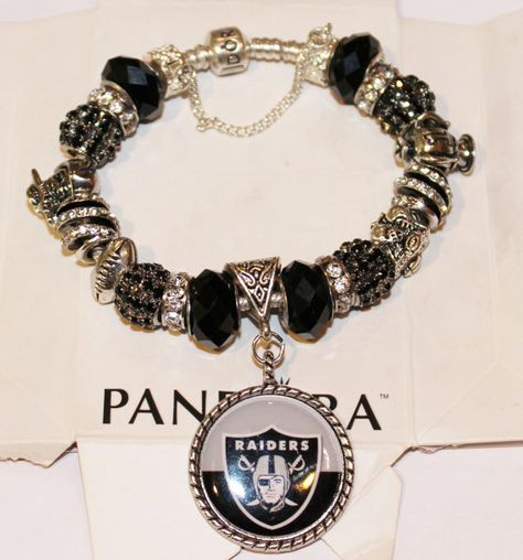 NFL Oakland Raiders   Authentic Jared Pandora by xdempseyx on Etsy, $135.00