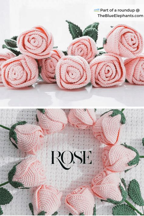 Easy Crochet Rose Free Pattern 20 Free Patterns for Crochet Flowers & What to Do with Them Crochet Simple, Crochet Diy, Crochet Motifs, Love Crochet, Crochet Gifts, Double Crochet, Crochet Ideas, Easy Things To Crochet, Crochet Poppy