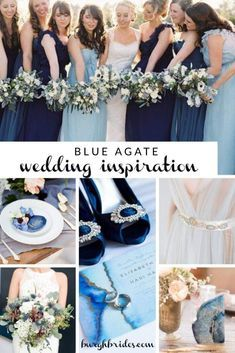 Beautiful Blue Agate Wedding Inspiration. For more wedding color ideas, visit burghbrides.com. #blueweddingideas #blueagatewedding #blueagate #blueagateweddinginspiration #blueweddingdecor