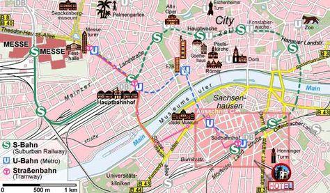 Frankfurt Tourist Map Google Search