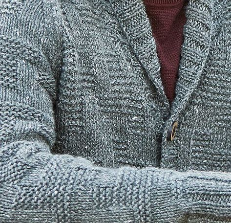 ecb518d14c4bdc Free Knitting Pattern for a Men s Textured Cardigan Thorpe
