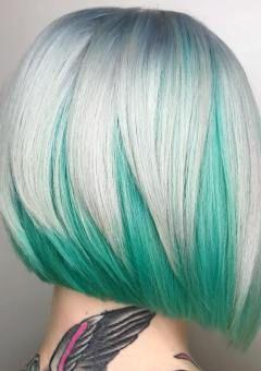 Two Tone Hair Coloring Rambut Pendek Warna Pewarna Rambut Rambut Panjang