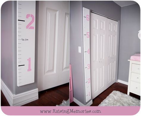 DIY Height Chart for Nursery by www.RaisingMemories.com